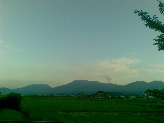 今日も阿蘇山がきれい