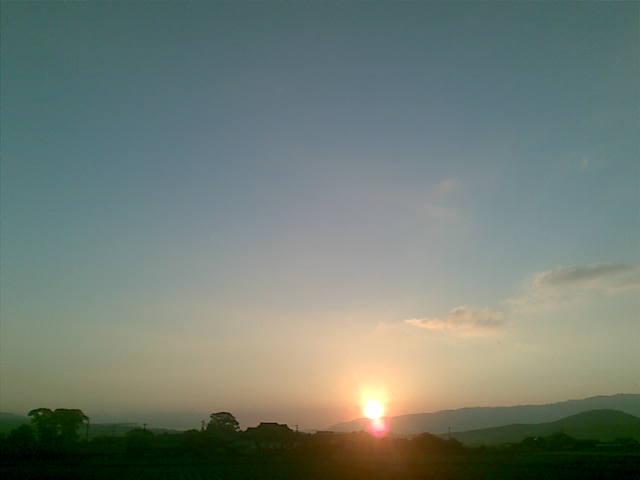 夕日もきれい!