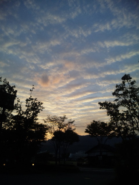 阿蘇の夕焼け