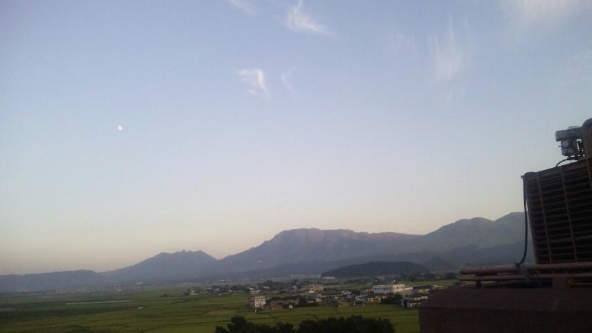 阿蘇山と月